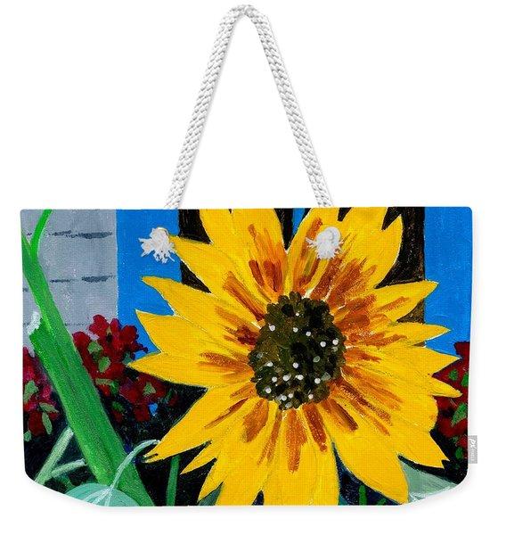 Backyard Flowers  Weekender Tote Bag