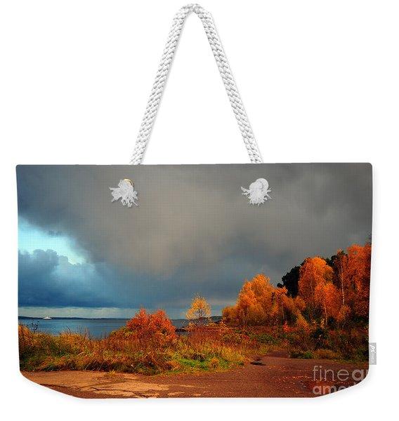 Bad Weather Coming Weekender Tote Bag