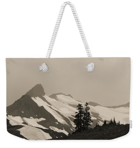 Fog In Mountains Weekender Tote Bag
