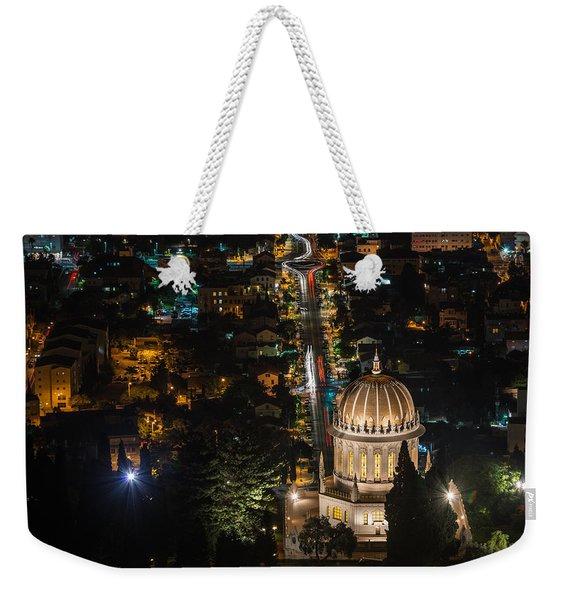 Baha'i Temple At Night Weekender Tote Bag
