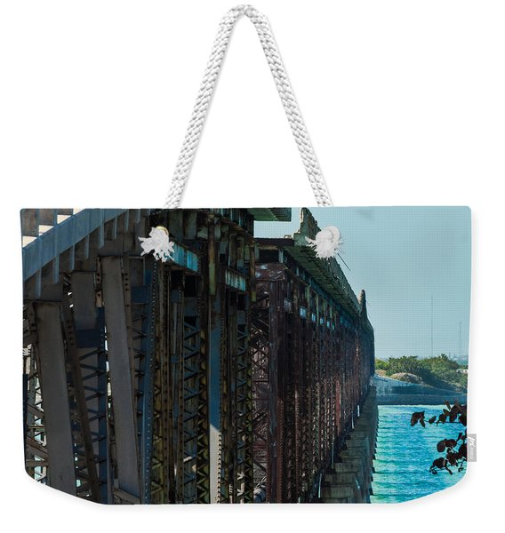 Bahia Honda Bridge Patterns Weekender Tote Bag