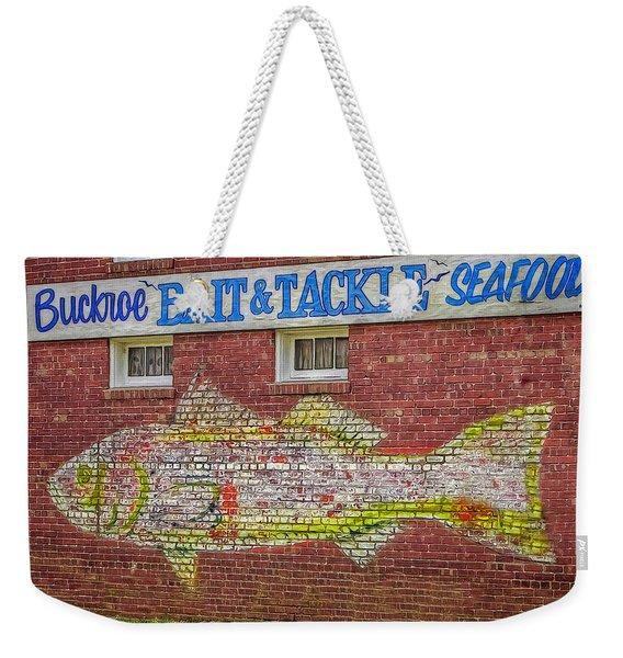 Bait Tackle Seafood Shop Detail Weekender Tote Bag