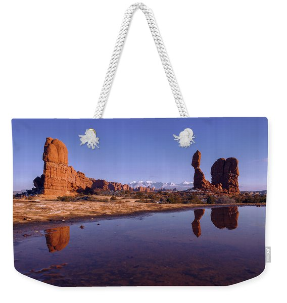 Balanced Reflection Weekender Tote Bag