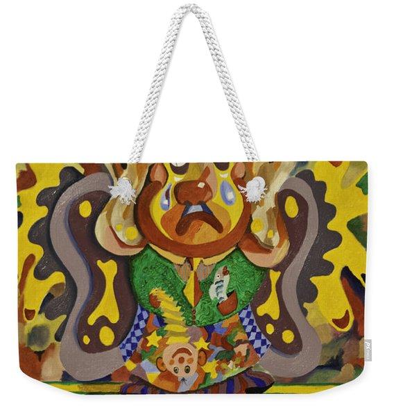 Balancing Clown Weekender Tote Bag