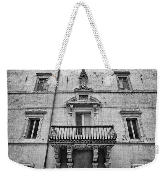 Balcony In Assisi Weekender Tote Bag