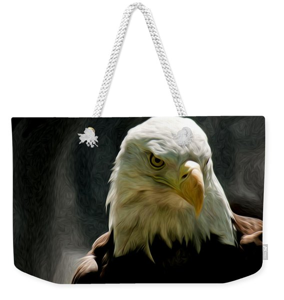 Bald Eagle Giving You That Eye Weekender Tote Bag