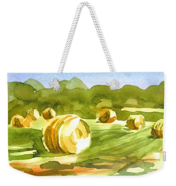 Bales In The Morning Sun Weekender Tote Bag