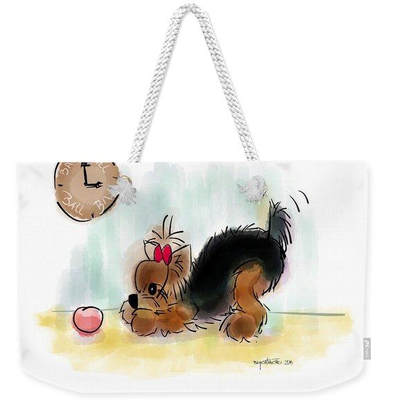 Ball Time Weekender Tote Bag