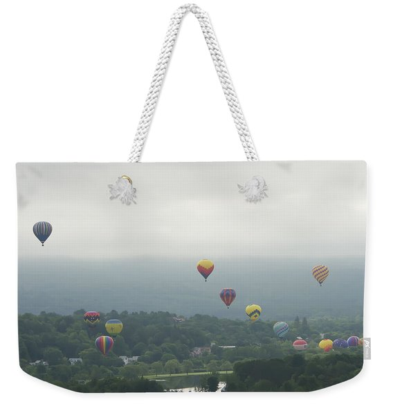Balloon Rise Over Quechee Vermont Weekender Tote Bag