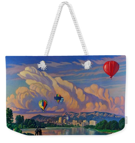 Ballooning On The Rio Grande Weekender Tote Bag