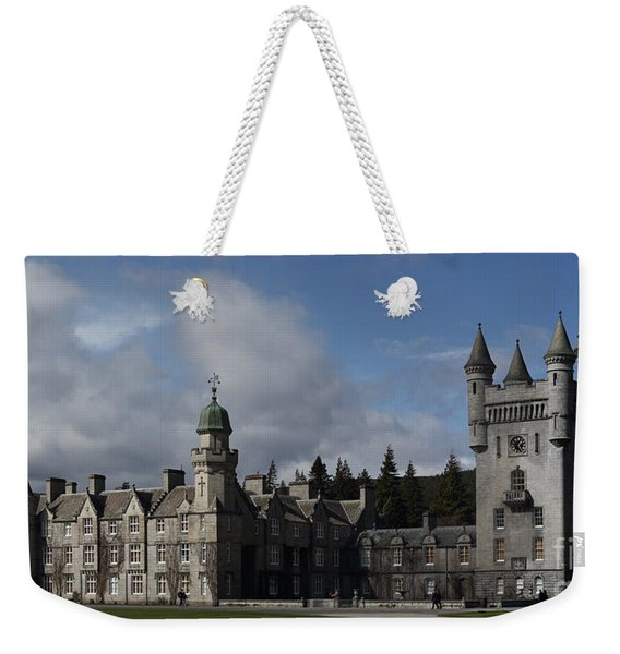 Balmoral Castle In A Closeup Panorama Weekender Tote Bag