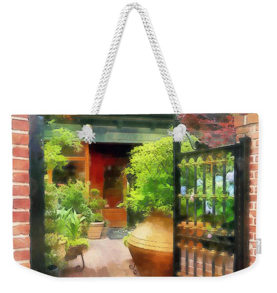 Baltimore - Restaurant Courtyard Fells Point Weekender Tote Bag