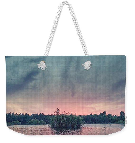 Bamboo Lake Weekender Tote Bag