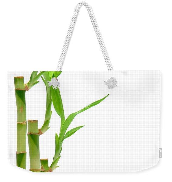 Bamboo Stems In Black Vase Weekender Tote Bag