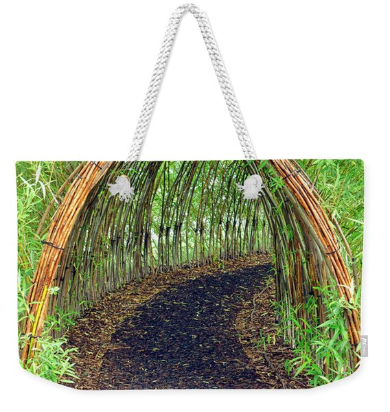 Bamboo Tunnel Weekender Tote Bag
