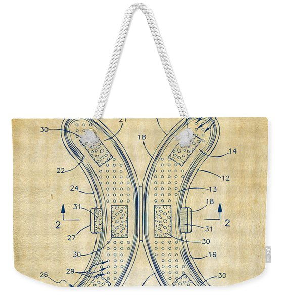 Banana Protection Device Patent Vintage Weekender Tote Bag