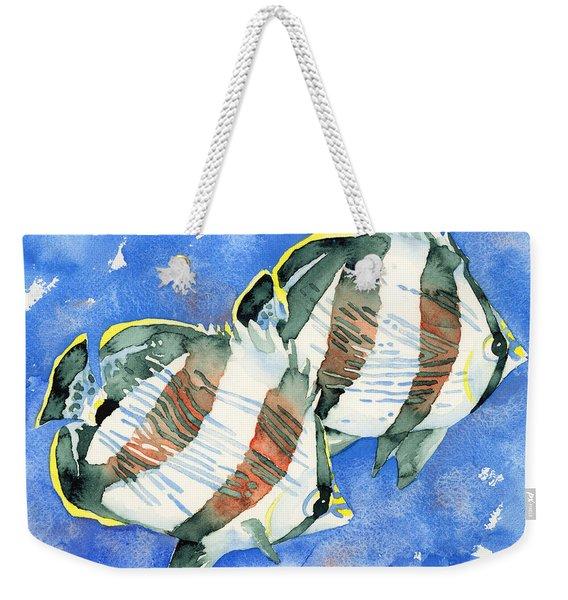 Banded Butterflyfish Weekender Tote Bag