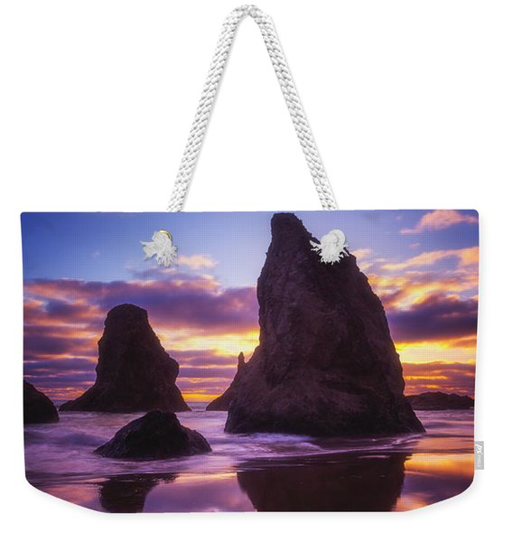 Bandon's Sunset Light Show Weekender Tote Bag