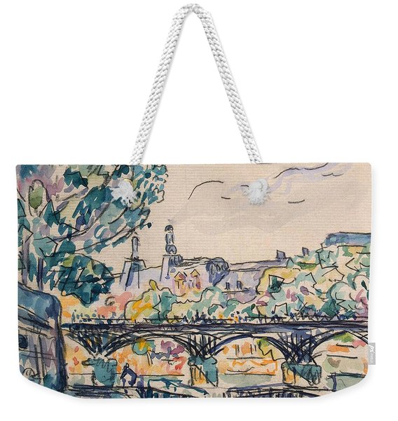 Bank Of The Seine Near The Pont Des Arts Weekender Tote Bag
