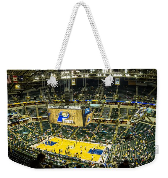 Bankers Life Fieldhouse - Home Of The Indiana Pacers Weekender Tote Bag