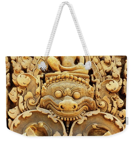 Banteay Srei Carving 01 Weekender Tote Bag