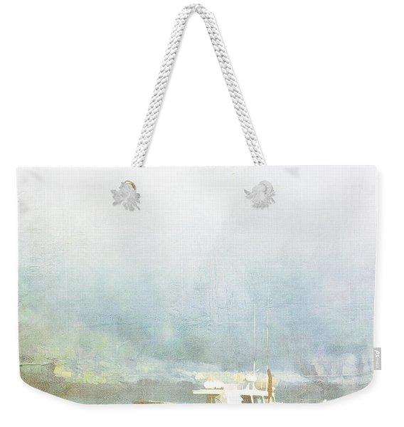 Bar Harbor Maine Foggy Morning Weekender Tote Bag