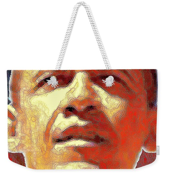 Barack Obama Portrait - American President 2008-2016 Weekender Tote Bag
