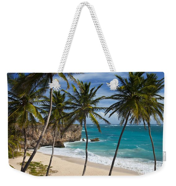 Weekender Tote Bag featuring the photograph Barbados Beach by Brian Jannsen