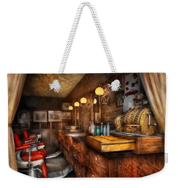Barber - Closed On Sundays Weekender Tote Bag