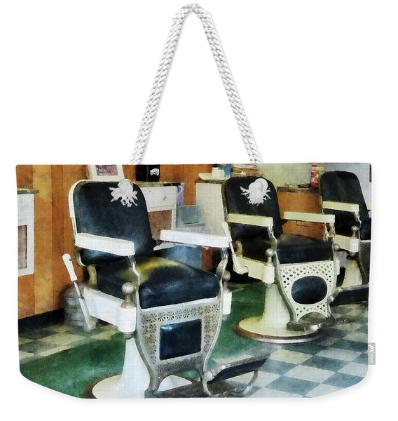 Barber - Corner Barber Shop Weekender Tote Bag