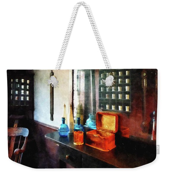 Barber - Hair Tonic And Shaving Mugs Weekender Tote Bag