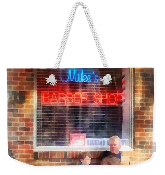 Barber - Neighborhood Barber Shop Weekender Tote Bag