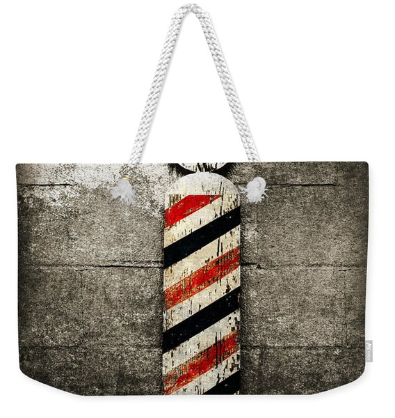 Barber Pole Selective Color Weekender Tote Bag