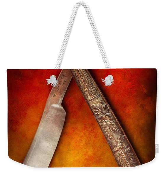 Barber - Shaving - Keep A Stiff Upper Lip Weekender Tote Bag