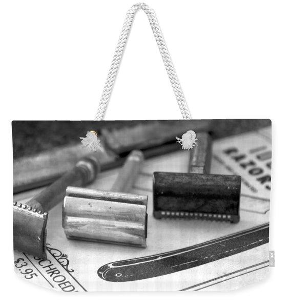 Barber Shop 20 Bw Weekender Tote Bag