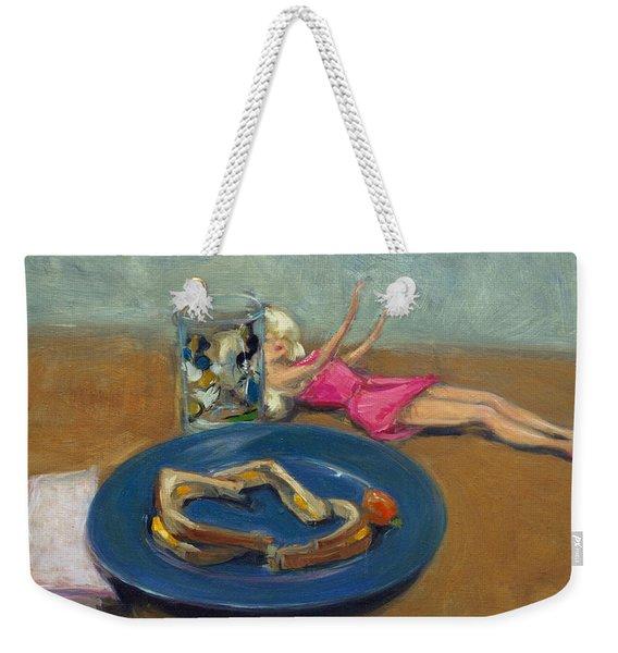 Barbie And Grilled Cheese Weekender Tote Bag