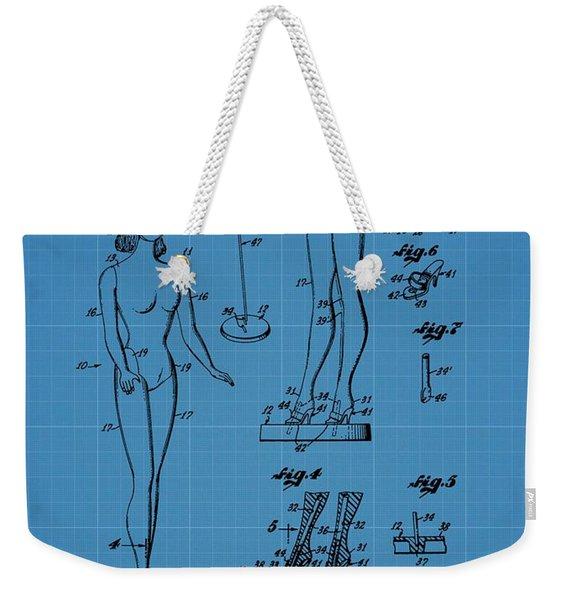 Barbie Doll Blueprint Weekender Tote Bag