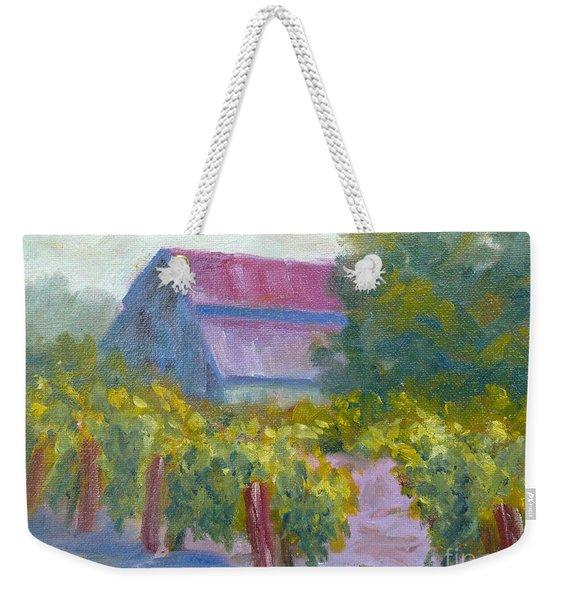 Barn In Vineyard Weekender Tote Bag