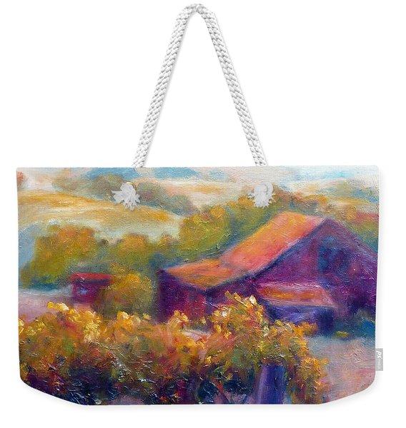 Barn Vineyard Weekender Tote Bag