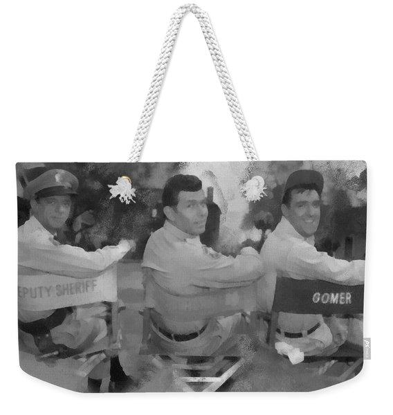 Barney Andy And Gomer Weekender Tote Bag