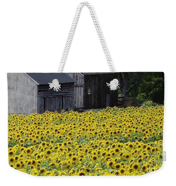 Barns And Sunflowers Weekender Tote Bag