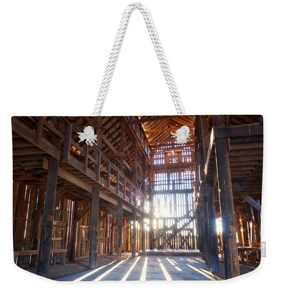 Weekender Tote Bag featuring the photograph Barnwood Cathedral by Mary Lee Dereske