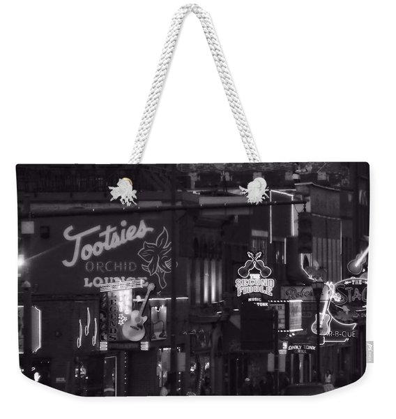 Bars On Broadway Nashville Weekender Tote Bag