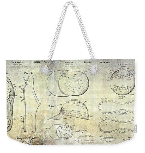 Baseball Patent Panoramic Weekender Tote Bag