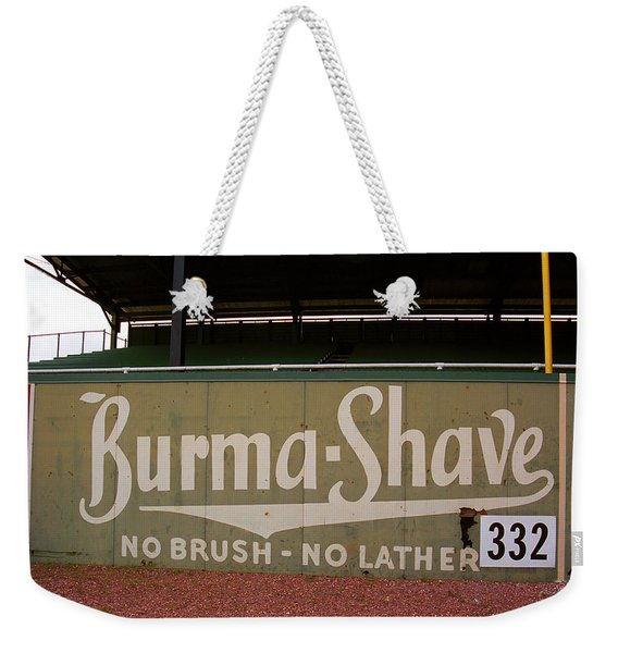 Baseball Field Burma Shave Sign Weekender Tote Bag