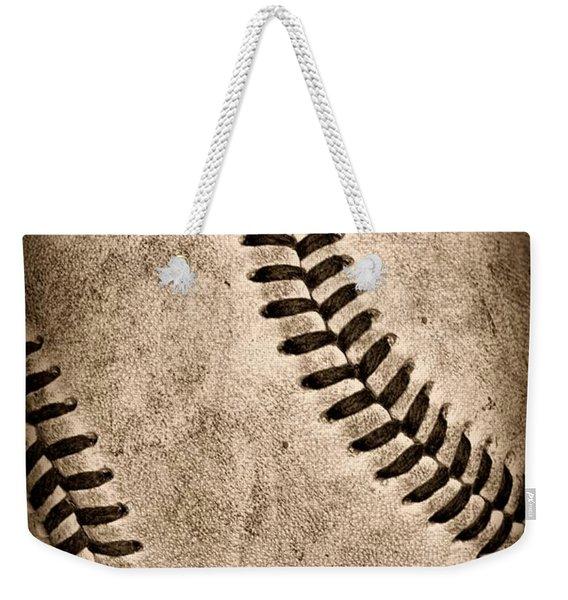Baseball Old And Worn Weekender Tote Bag