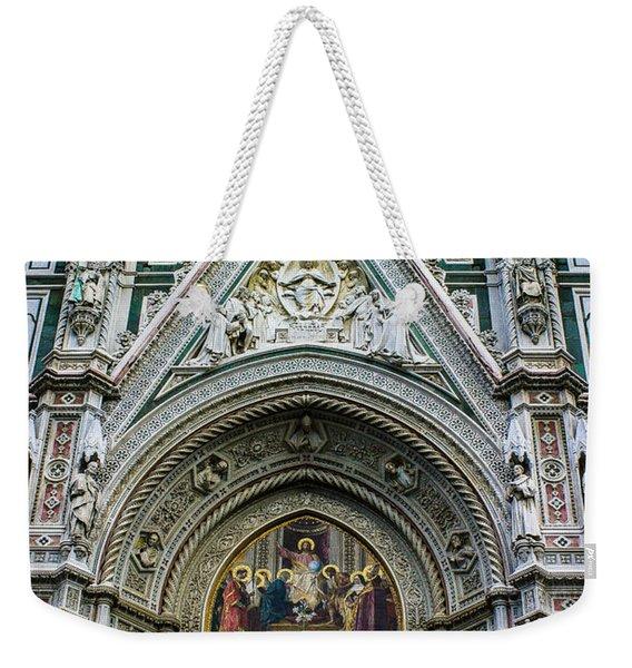 Basilica Di Santa Maria Del Fiore Florence Italy Color Enhanced Weekender Tote Bag