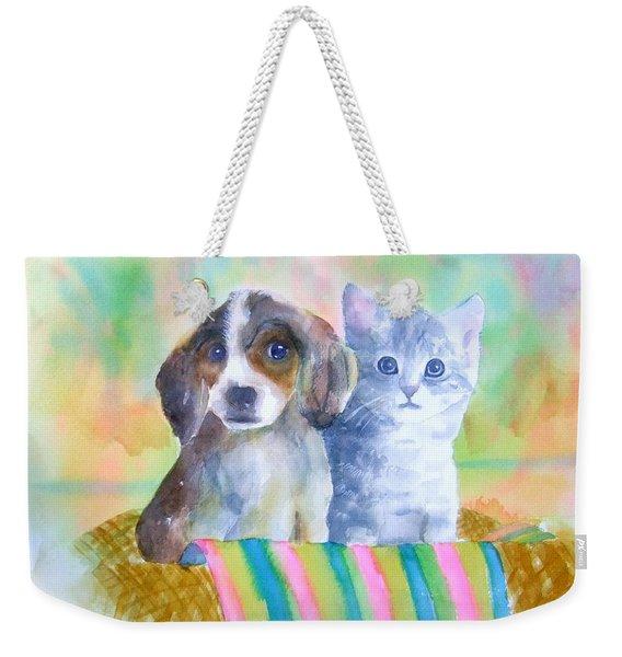 Basket Full Of Love Weekender Tote Bag