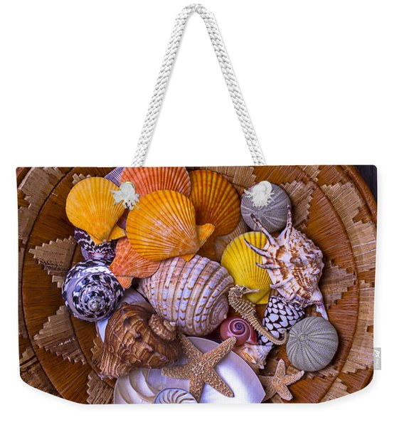 Basket Full Of Seashells Weekender Tote Bag