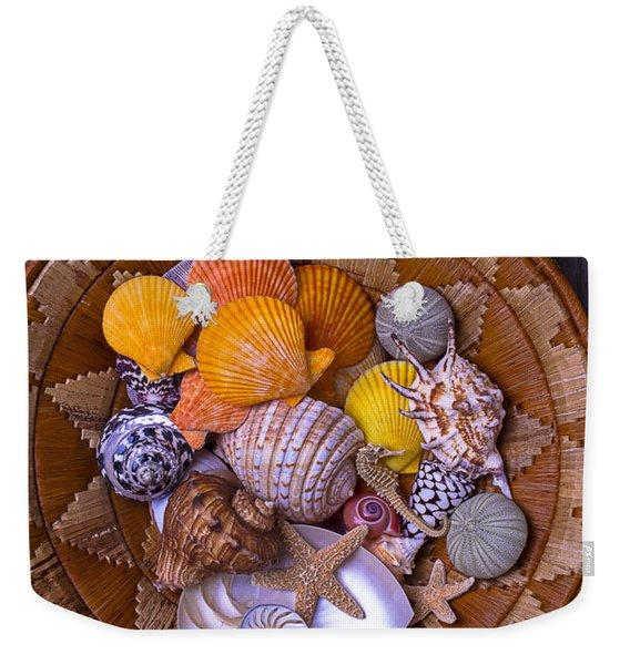 Basket Full Of Seashells Weekender Tote Bag